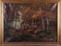 autumn forest scene by john semon