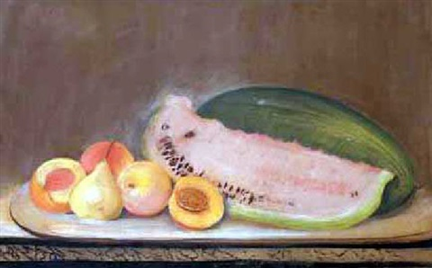 watermelons and peaches by robert scott duncanson