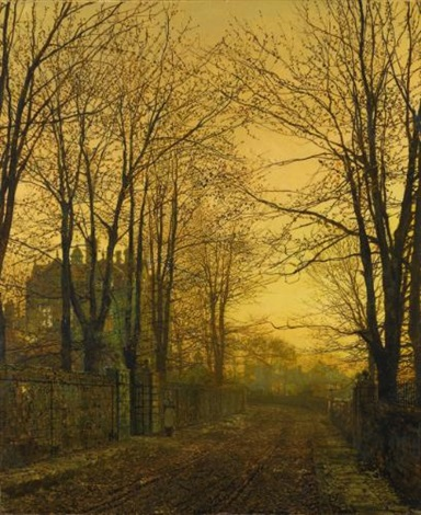 october after glow by john atkinson grimshaw