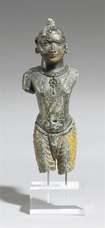 an eastern india grey stone figure of krishna 18th century or later