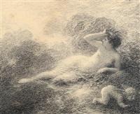 femme et amour dans des nuées by henri fantin-latour