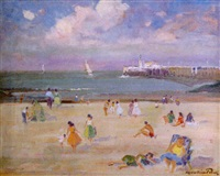 plage a ostende by maurice paul