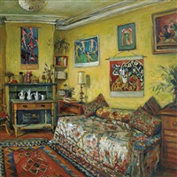 yellow room, afternoon by margaret hannah olley