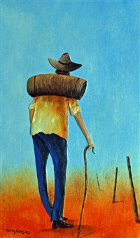 swagman (+ woman; pair) by terry cousins