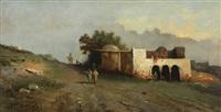 oriental landscape by mario de maria