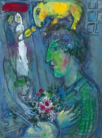 le profil vert du peintre by marc chagall