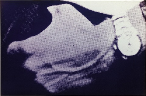 untitled mans hand with watch by richard prince