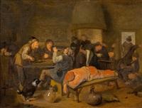 bauern in einer wirtsstube by jan miense molenaer