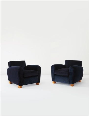 armchairs pair by jean royère
