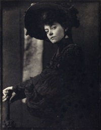 portrait - miss minnie ashley (from camera work 10) by gertrude kasebier