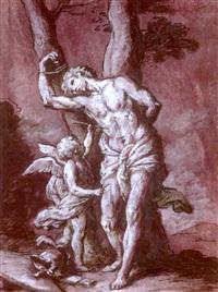saint sébastien secouru par un ange by marcantonio bassetti