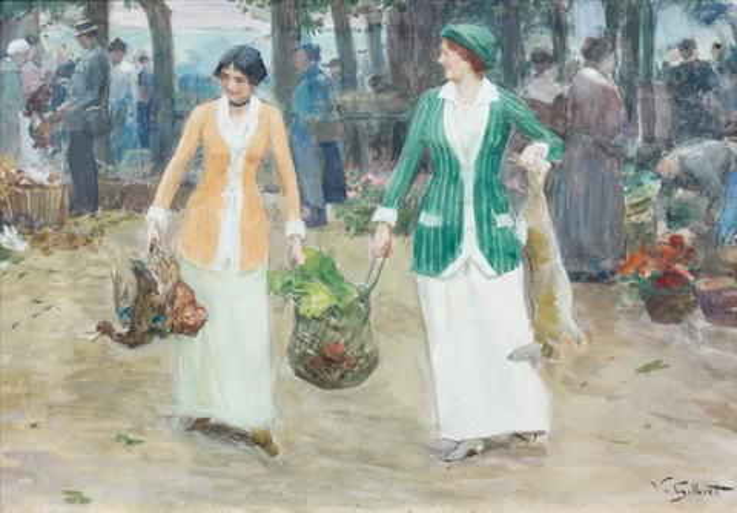 élégantes au marché by victor gabriel gilbert