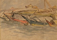 untitled (boats) by zainul abedin