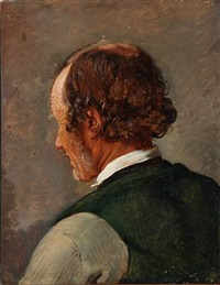 a man seen back-turned by jörgen roed