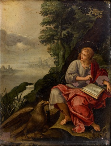 saint jean à patmos by hans rottenhammer the elder