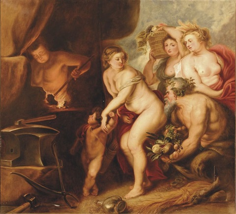 vénus dans la forge de vulcain by sir peter paul rubens
