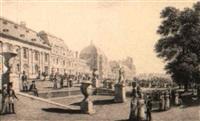 vue du palais des tuileries depuis les jardins by lieutenant colonel robert batty