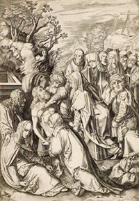grablegung christi (after dürer) by cornelis visscher