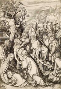 grablegung christi (after dürer) by cornelis visscher