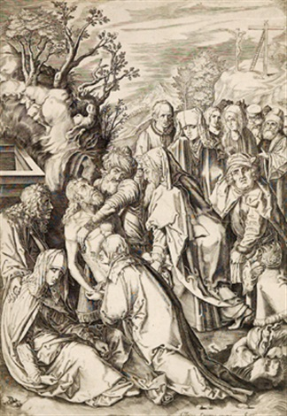 grablegung christi after dürer by cornelis visscher