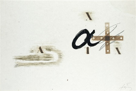 untitled by antoni tàpies