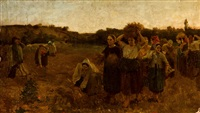 retirada de las espigadoras by jules breton