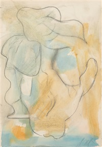 aquarelle interprétée by hans arp