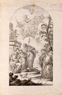 la sainte famille avec sainte anne et saint joachim et dieu le père by francesco zugno the younger