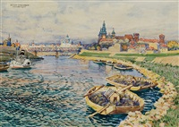 vistula by the wawel castle by henryk uziemblo