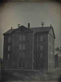 boston school house (identified as the bigelow school) at 3:49 p.m. by southworth & hawes