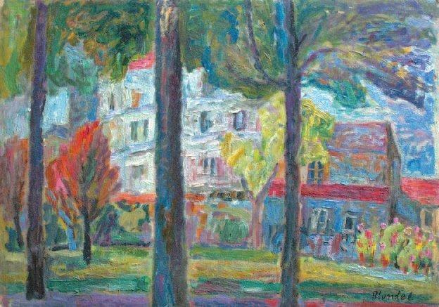 Environs de Paris Paysage aux arbres recto-verso by André Blondel ...