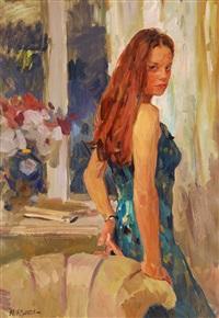 evening portrait by yuri krotov