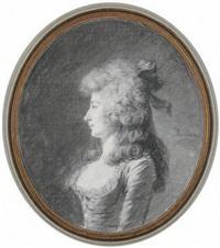 portrait de femme de profil by henri-pierre danloux