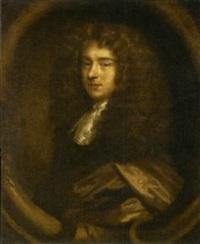 portrait of a gentleman in a brown cloak by john greenhill