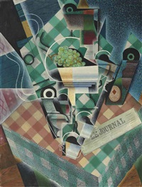 nature morte à la nappe à carreaux by juan gris