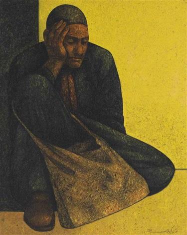 istirahet al moutassawel the resting beggar by louay kayyali
