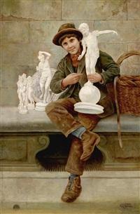 der porzellanfigurenverkäufer by vittorio rignano