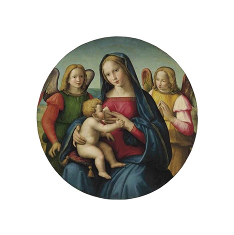 the madonna and child with adoring angels by ridolfo del ghirlandaio