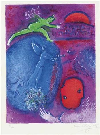 songe de lamon et de dryas (from daphnis and chloë) by marc chagall