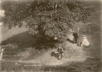 wanderer unter einem baum (wanderers below a tree) by heinrich kühn