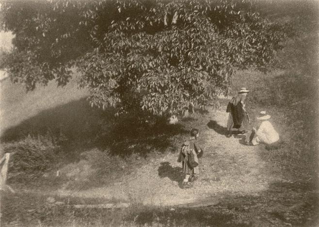 wanderer unter einem baum wanderers below a tree by heinrich kühn
