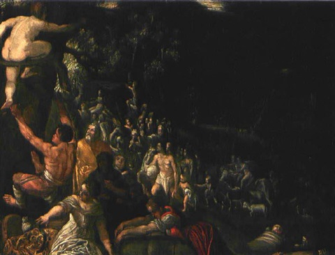 sintflut after adam elsheimer by johann hans konig