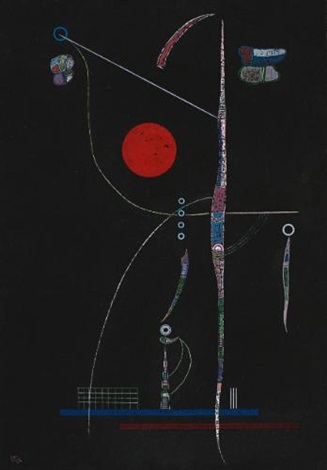 laccent rouge by wassily kandinsky