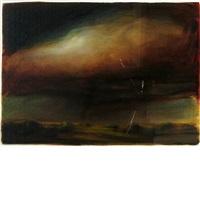 summer storm/red cloud, study by david bierk