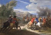 equestrian engagement by adrian frans van der meulen