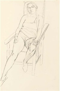 seated woman by dorothy hepworth
