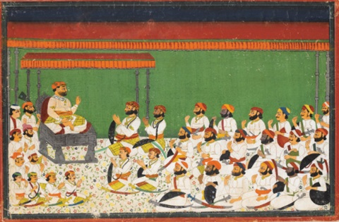 a raja presides over his audience by anonymous indian 19