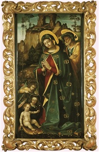 sainte famille avec des anges by martino piazza