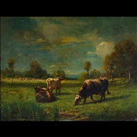 untitled - cows grazing in pasture by constant troyon