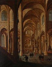 interior from a gothic church by hans jurriaensz van baden